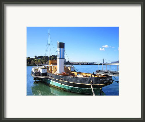 The Eppleton Hall Paddlewheel Tugboat - 1914 Framed Print By Daniel Hagerman