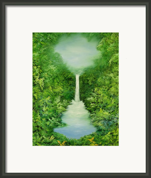 The Everlasting Rain Forest Framed Print By Hannibal Mane