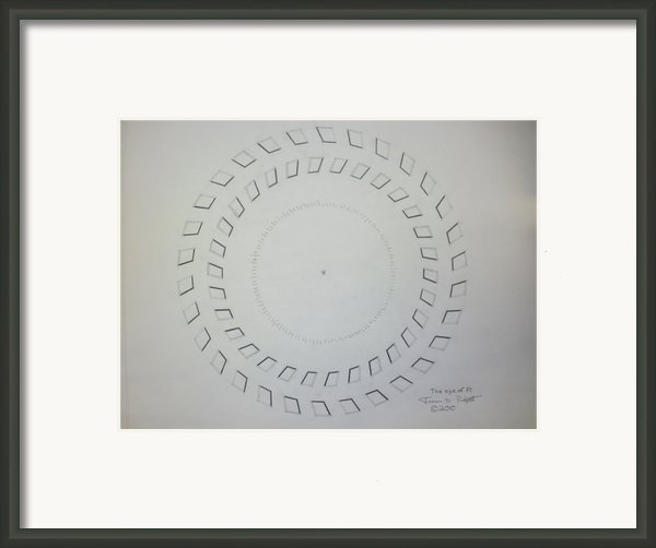 The Eye Of Pi Framed Print By Jason Padgett