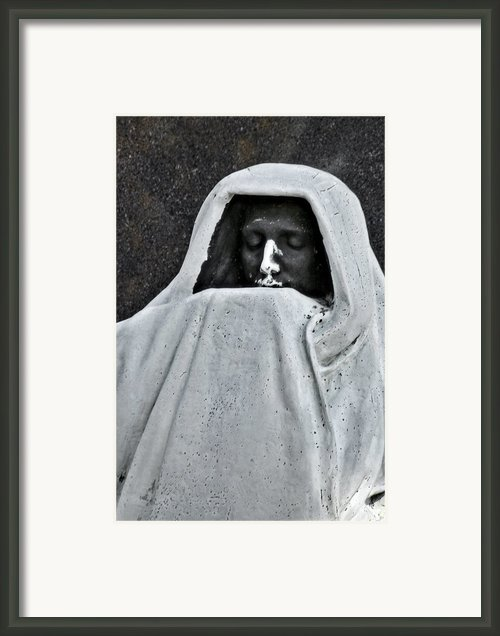 The Face Of Death - Graceland Cemetery Chicago Framed Print By Christine Till
