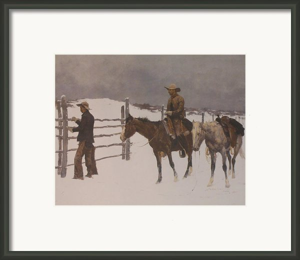 The Fall Of The Cowboy Framed Print By Frederic Remington