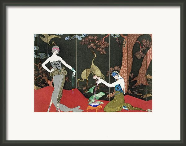 The Fashion For Lacquer Framed Print By Georges Barbier