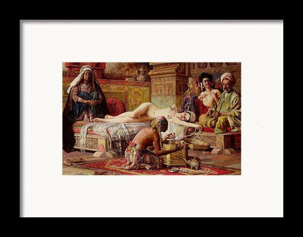 The Favorite Of The Harem Framed Print By Gyula Tornai