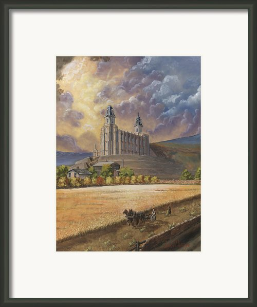 The Field Is White Framed Print By Jeff Brimley
