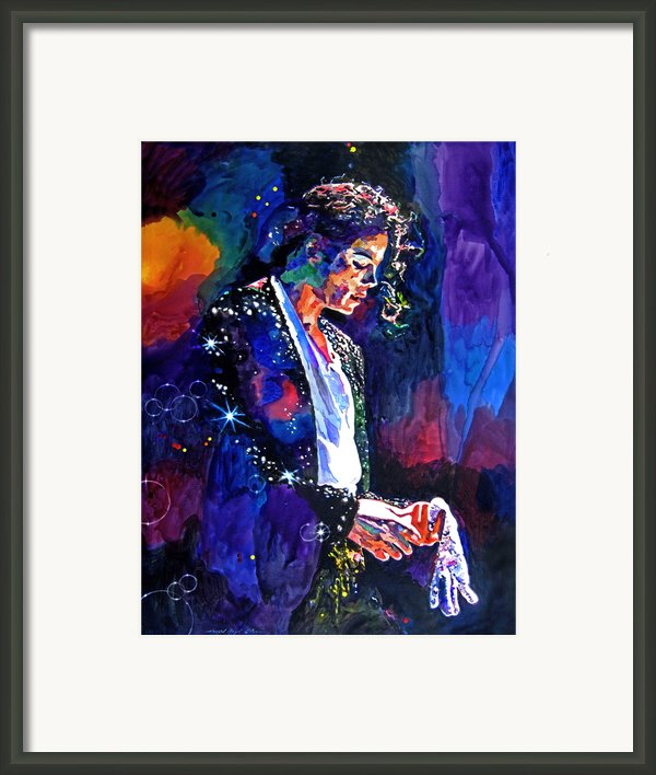The Final Performance - Michael Jackson Framed Print By David Lloyd Glover
