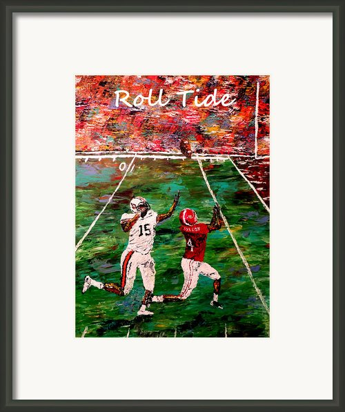 The Final Yard Roll Tide  Framed Print By Mark Moore