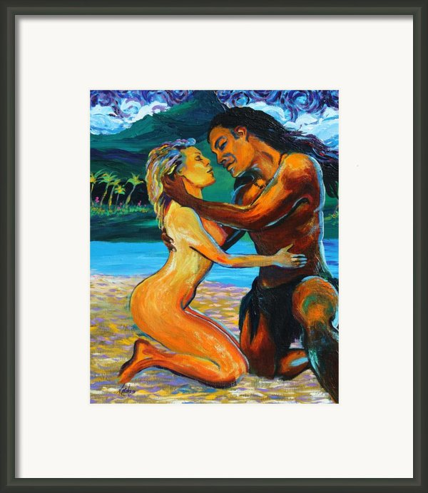 The First Kiss Framed Print By Karon Melillo Devega