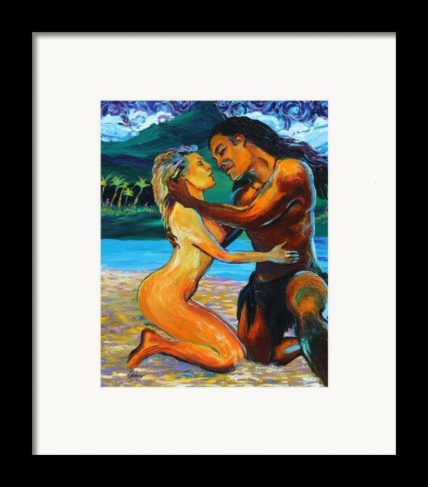 The First Kiss Framed Print By Karon Melillo Devega