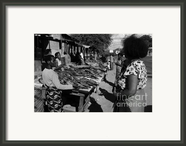 The Fish Market Framed Print By Aidan Moran