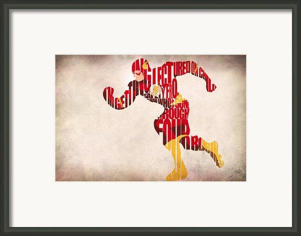 The Flash Framed Print By Ayse Deniz