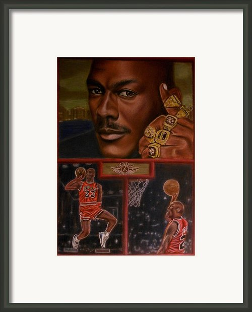 The Flight Instructor Feat Michael Jordan Framed Print By D Rogale