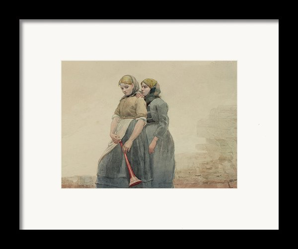 The Foghorn Framed Print By Winslow Homer