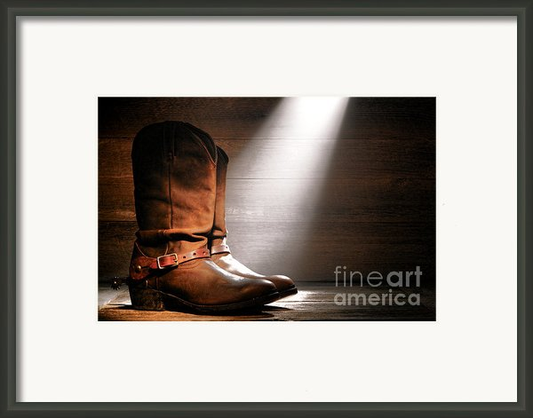 The Found Boots Framed Print By Olivier Le Queinec