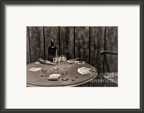 The Gambling Table Framed Print By Olivier Le Queinec