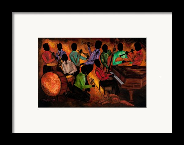 The Gitdown Hoedown Framed Print By Larry Martin