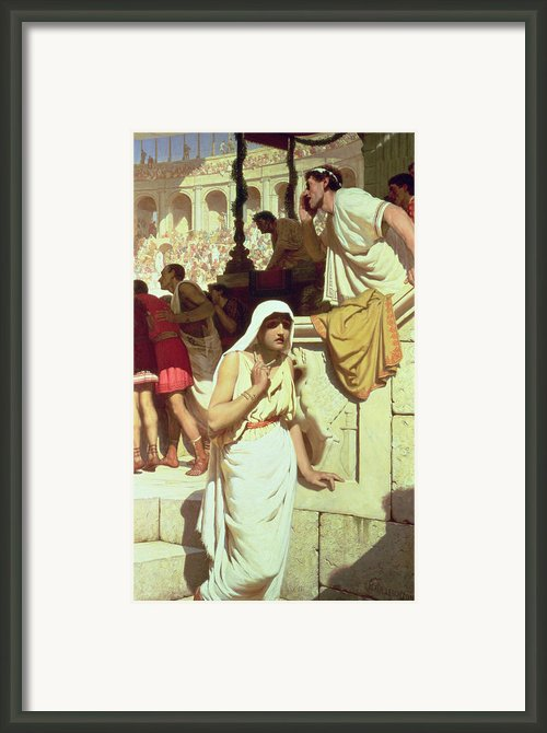 The Gladiators Wife Framed Print By Edmund Blair Leighton