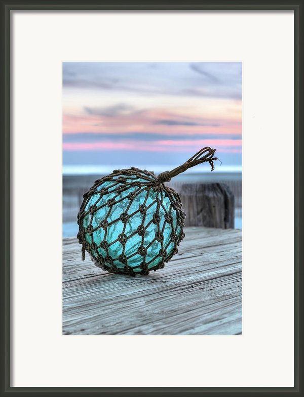 The Glass Fishing Float Framed Print By Jc Findley