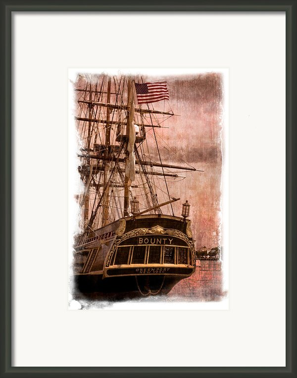 The Gleaming Hull Of The Hms Bounty Framed Print By Debra And Dave Vanderlaan