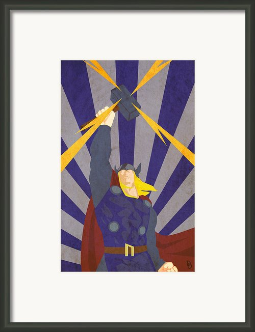 The God Of Thunder Framed Print By Dave Drake
