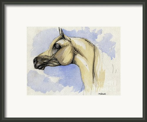 The Grey Arabian Horse 12 Framed Print By Angel  Tarantella