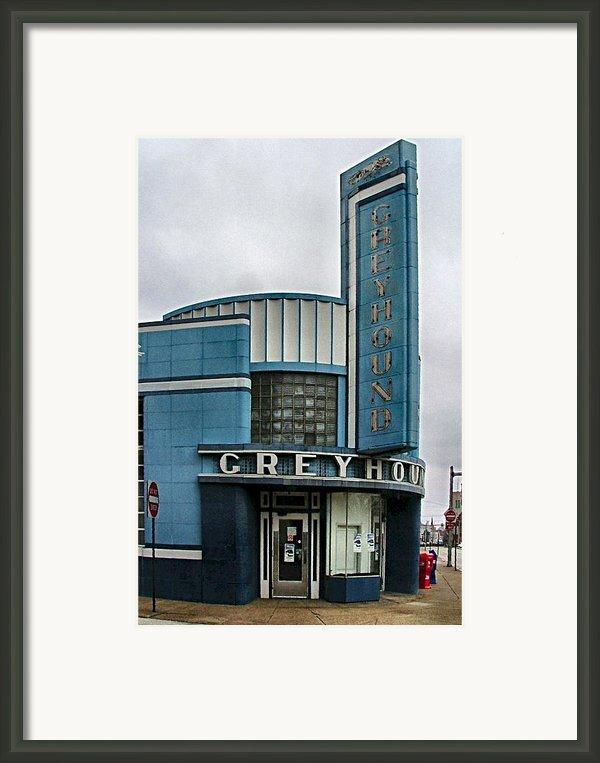 The Greyhound Bus Station Framed Print By Julie Dant