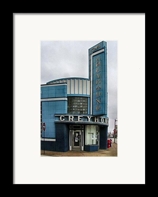 The Greyhound Bus Station Framed Print By Julie Dant