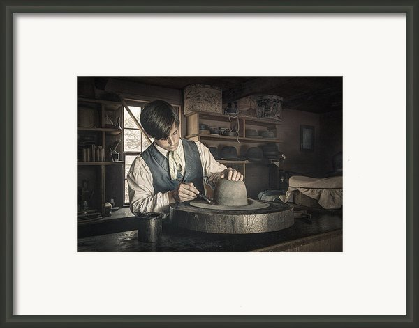 The Hatter - Millenery - Hatmaking Framed Print By Gary Heller