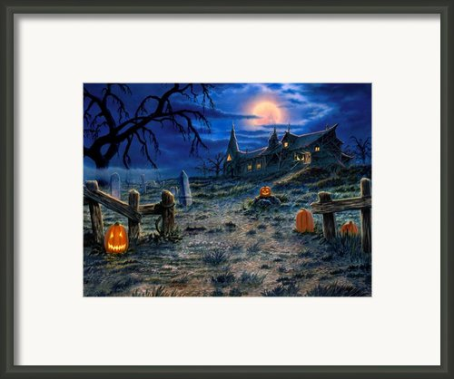 The Haunted House Framed Print By Stu Shepherd