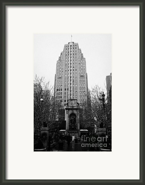 The Herald Square Building In The Rain Herald Square Broadway And 6th Avenue New York City Nyc Framed Print By Joe Fox