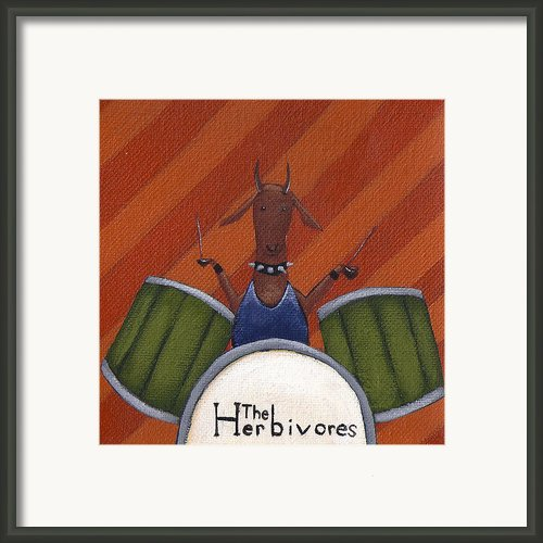 The Herbivores Framed Print By Christy Beckwith