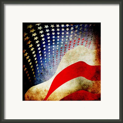 The High Flying Flag Framed Print By Angelina Vick