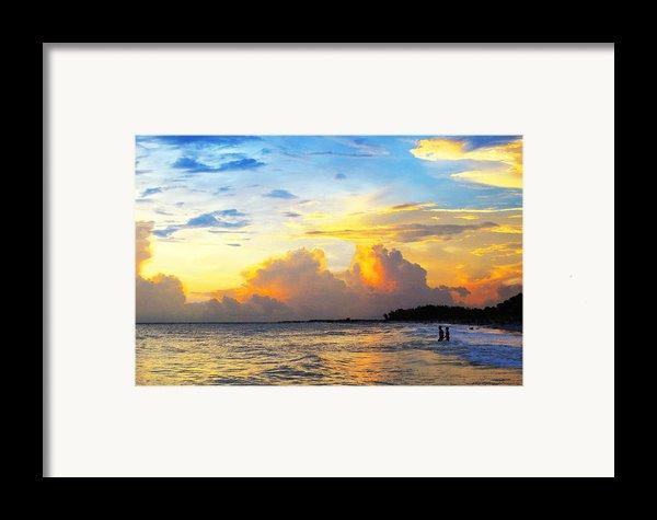 The Honeymoon - Sunset Art By Sharon Cummings Framed Print By Sharon Cummings