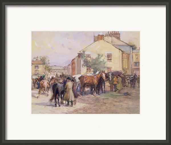 The Horse Fair  Framed Print By John Atkinson