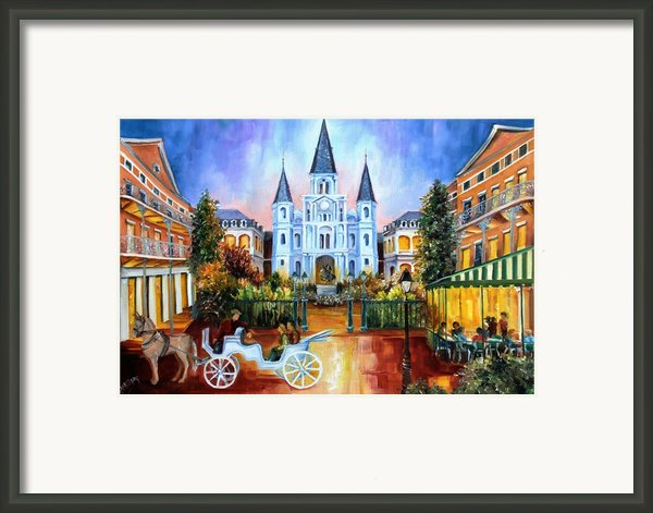 The Hours On Jackson Square Framed Print By Diane Millsap