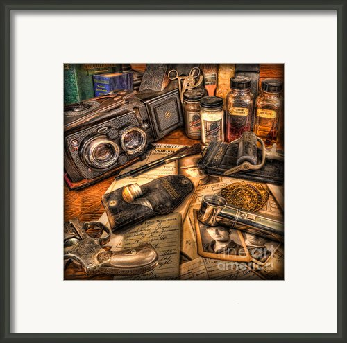 The Identification Bureau - Police Officer Framed Print By Lee Dos Santos