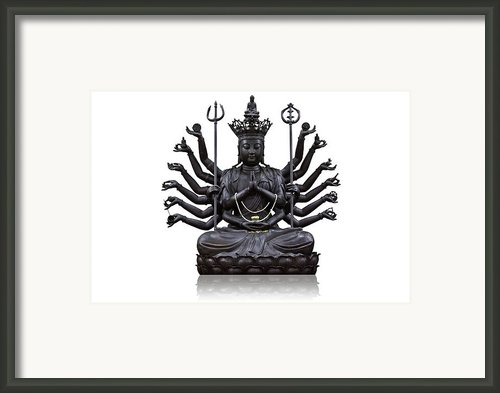 The Images Of Guanyin Black Framed Print By Tosporn Preede