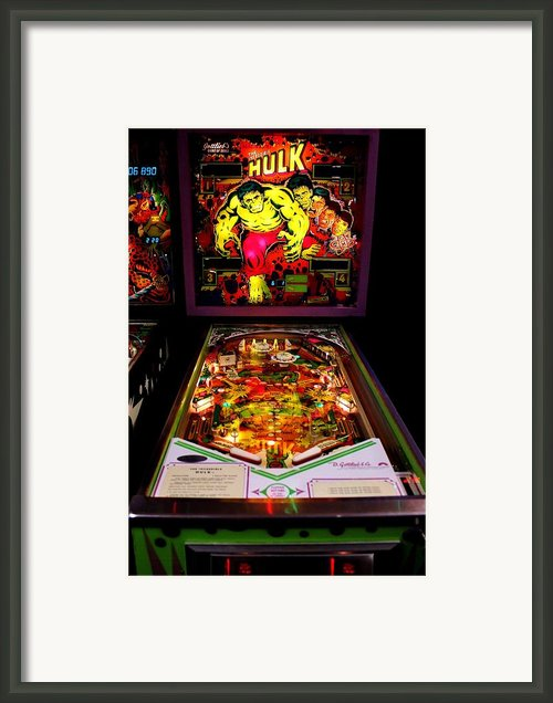 The Incredible Hulk By Gottlieb Framed Print By Benjamin Yeager