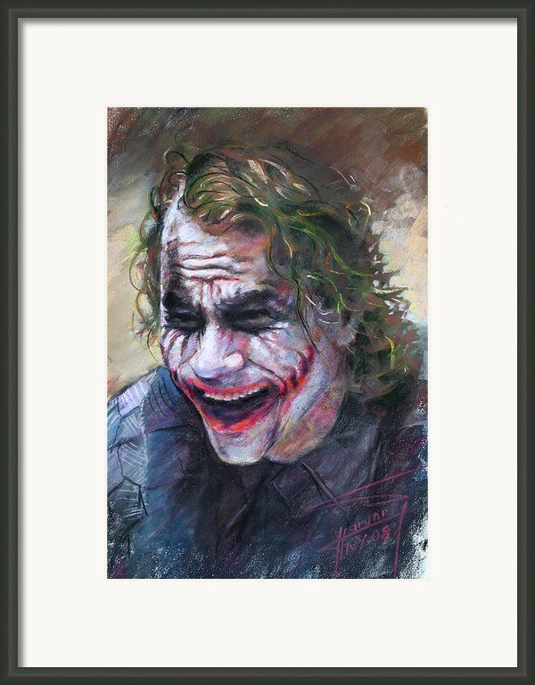 The Joker Heath Ledger  Sm Framed Print By Ylli Haruni