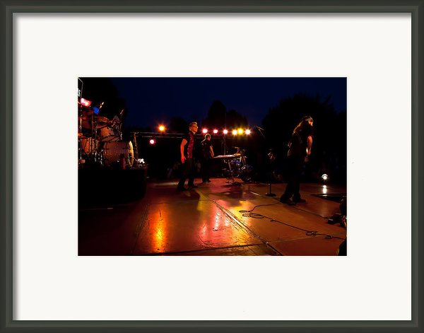 The Kingpins Rock The Night Away Framed Print By David Patterson