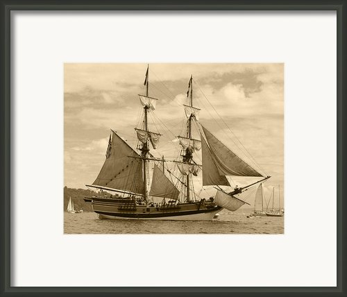 The Lady Washington Ship Framed Print By Kym Backland
