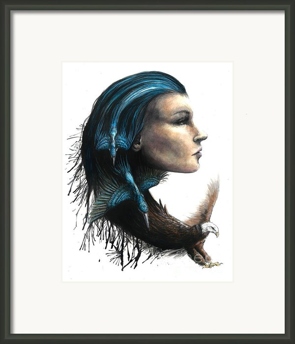 The Lady With The Birds Framed Print By Danielle Trudeau