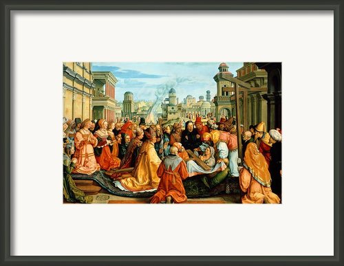 The Legend Of The Holy Cross Framed Print By Barthel Beham