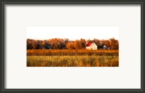 The Little Kansas Barn Framed Print By Kristen Garlow Piper