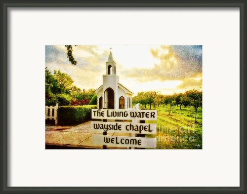 The Living Water Wayside Chapel Framed Print By Scott Pellegrin