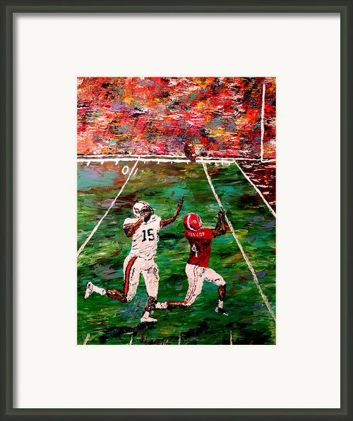 The Longest Yard - Alabama Vs Auburn Football Framed Print By Mark Moore
