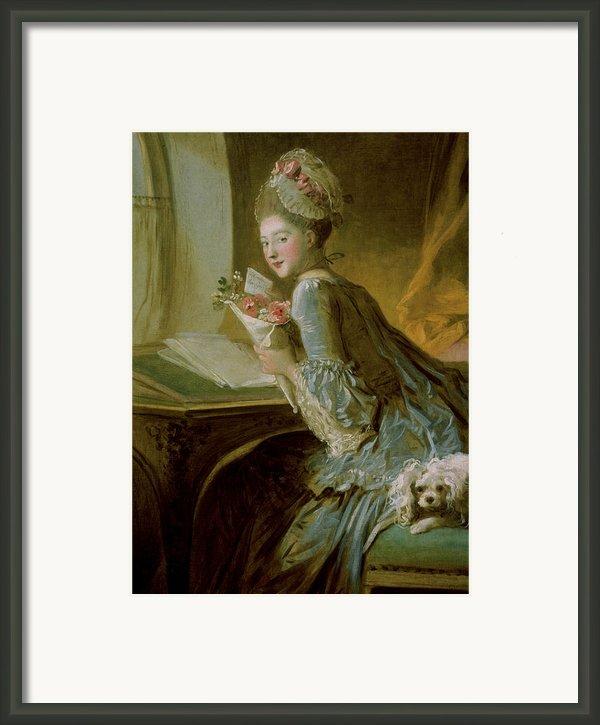 The Love Letter Framed Print By Jean Honore Fragonard