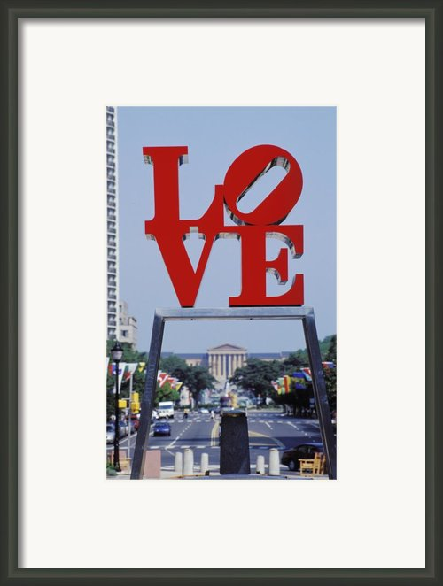 The Love Sculpture Framed Print By Carl Purcell