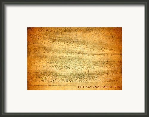 The Magna Carta 1215 Framed Print By Design Turnpike