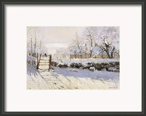 The Magpie Snow Effect Framed Print By Claude Monet