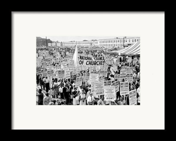 The March For Civil Rights Framed Print By Benjamin Yeager